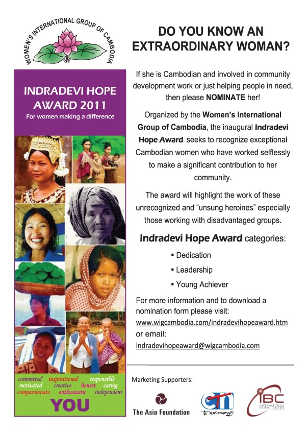 Indradevi Hope Award_English