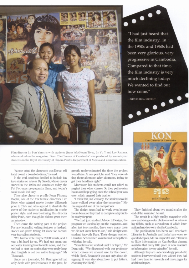 KON on The Cambodia Daily Newspaper