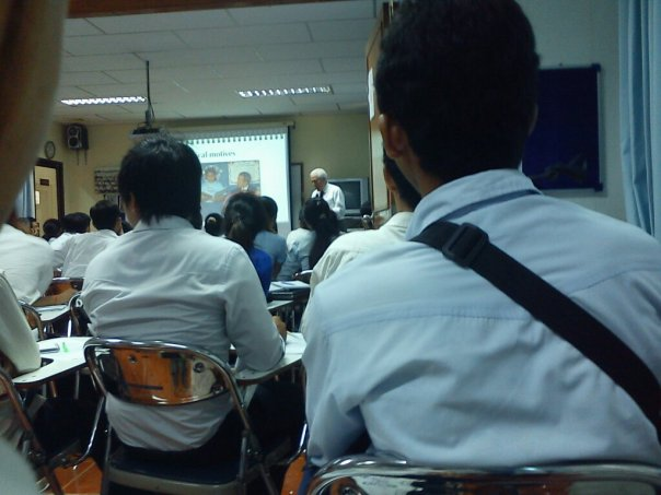 Attended a lecturer by Ralph J. Begleiter